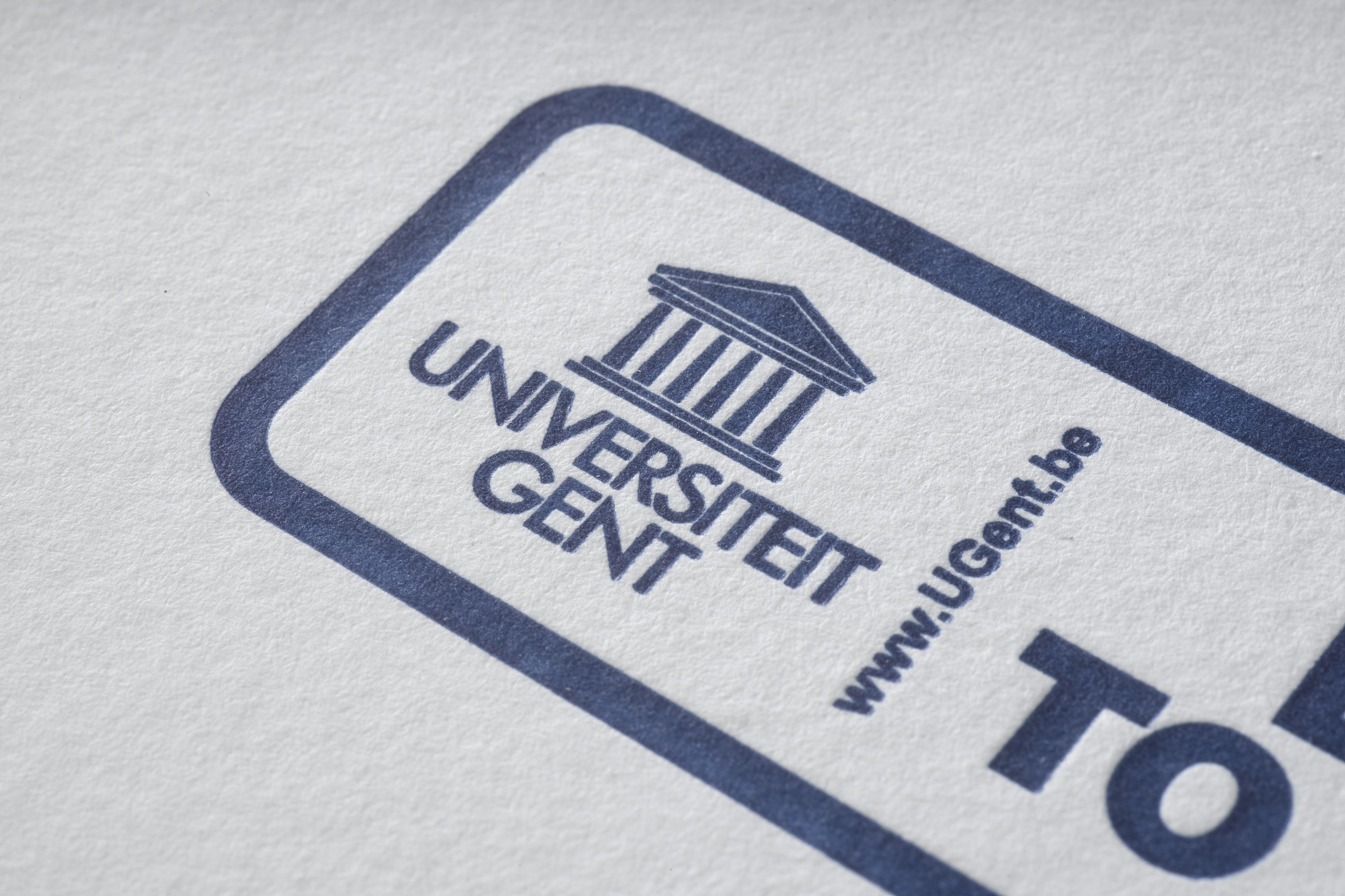 Universiteit GentDrukwerk in huisstijl